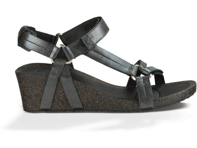 Teva Ysidro Universal Wedge Metallic Sandals Dame gunmetal